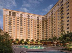 Exterior of the WorldMark Anaheim resort