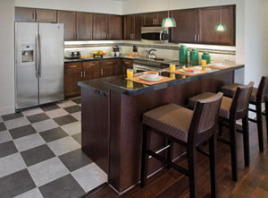Interior of the WorldMark Anaheim Kitchen