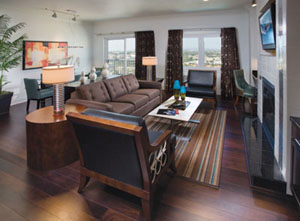 Interior of the WorldMark Anaheim Living Room