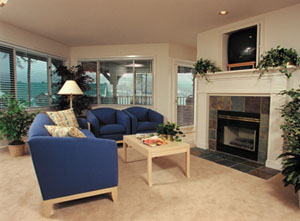 Interior of the Worldmark Arrow Point Living Room