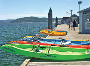 Kayaking in Lake Coeur d Alene