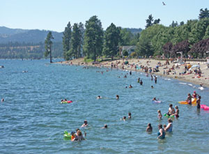 Swimming in Lake Coeur d Alene