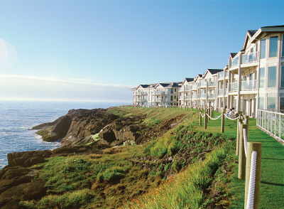 Beautiful beachfront resort at Depoe Bay Oregon