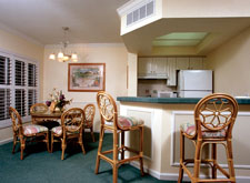 Interior of the WorldMark Orlando Dining Room and Kitchen