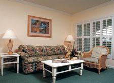 Interior of the WorldMark Orlando Living Room