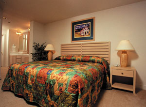 Interior of the Worldmark Arrow Point Bedroom