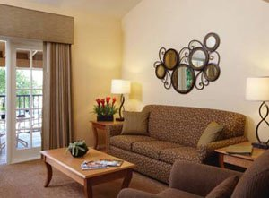 Interior of the WorldMark Dolphin's Cove Living Room